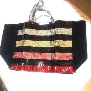 Victoria's Secret Large Sequin Tote Bag NWT